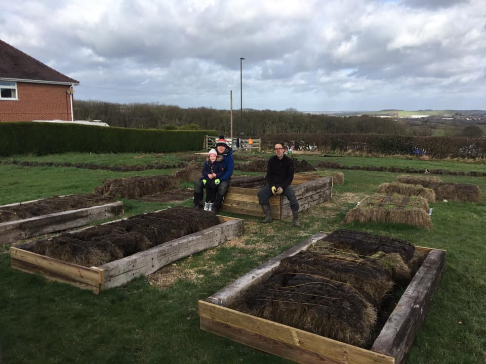 First Raised Beds built - SEAG - Shipley Eco-Action Group