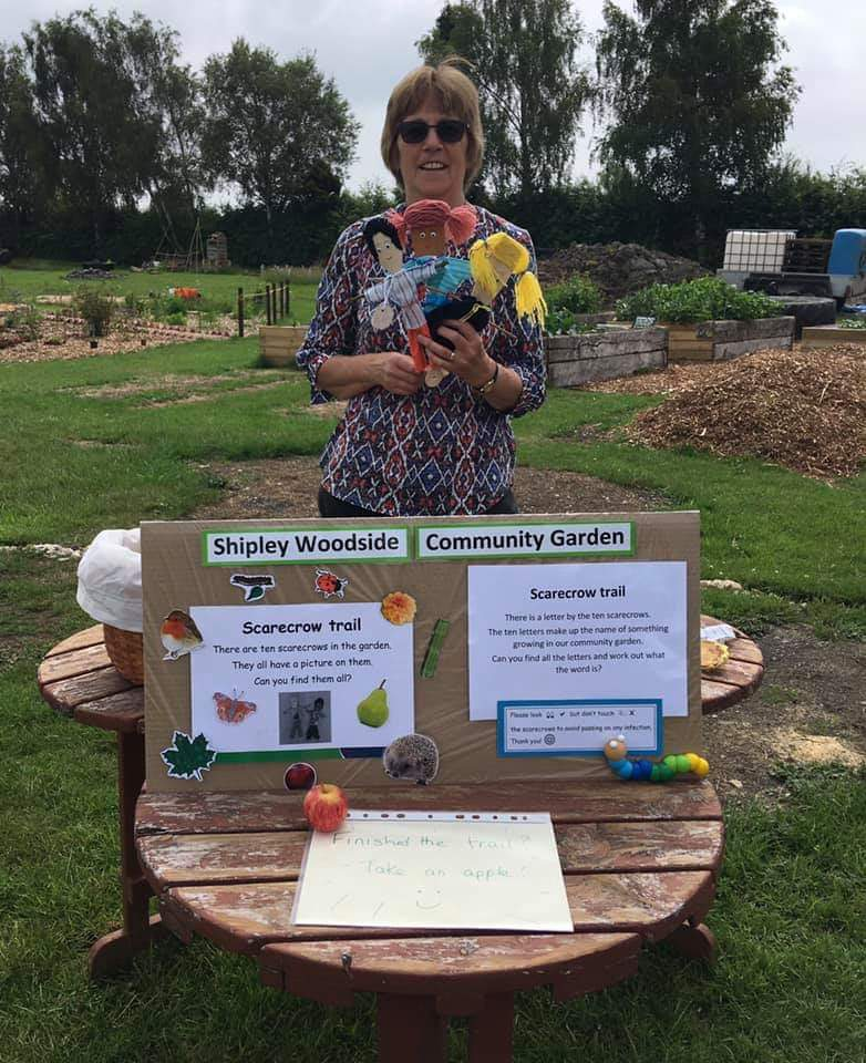 Ruth with her precious scarecrows!
