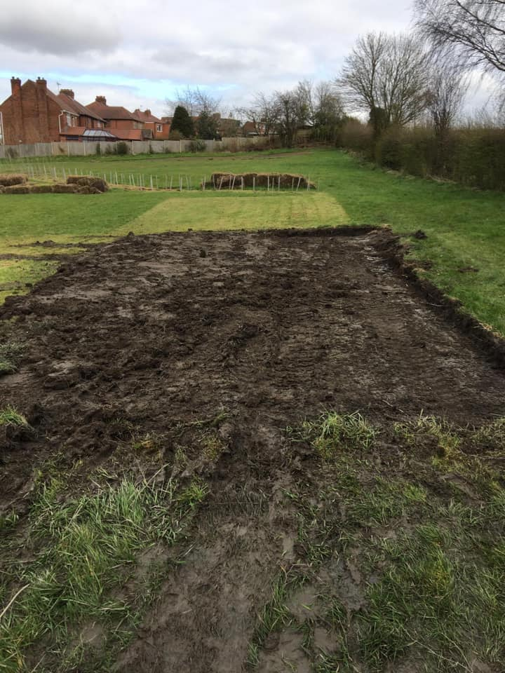 Ground preparations for a shelter and polytunnel - SEAG - Shipley Eco-Action Group