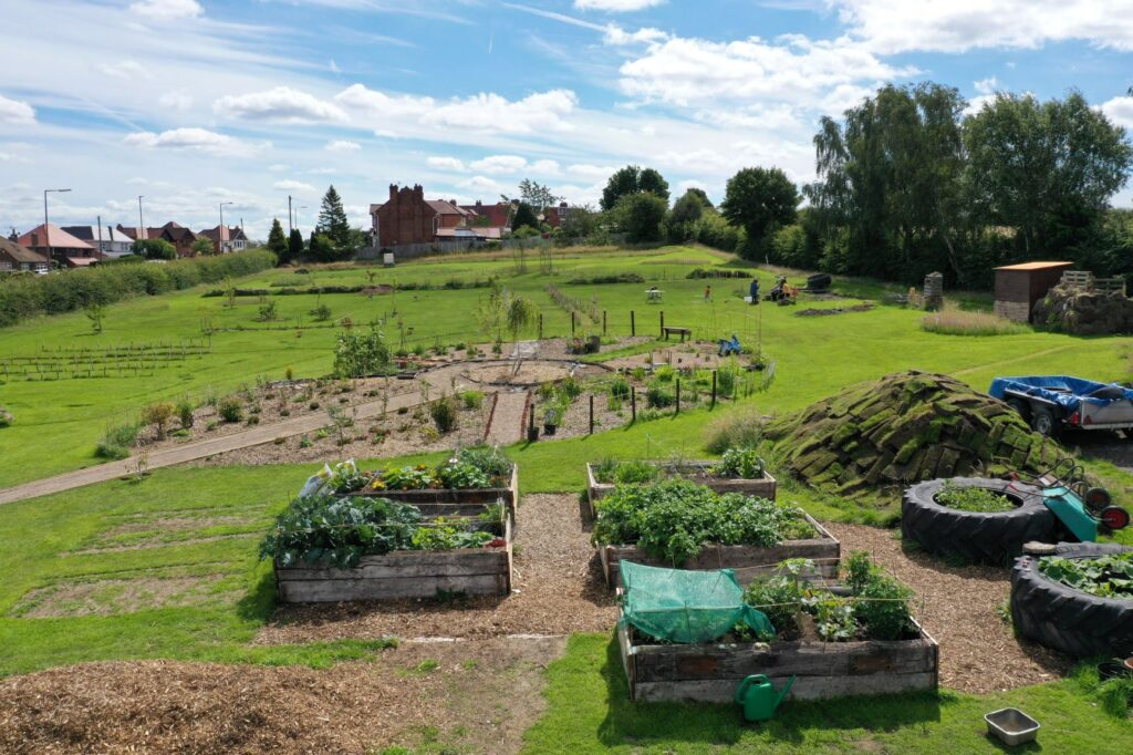 Take a tour of Shipley Woodside Community Garden by drone! - SEAG - Shipley Eco-Action Group