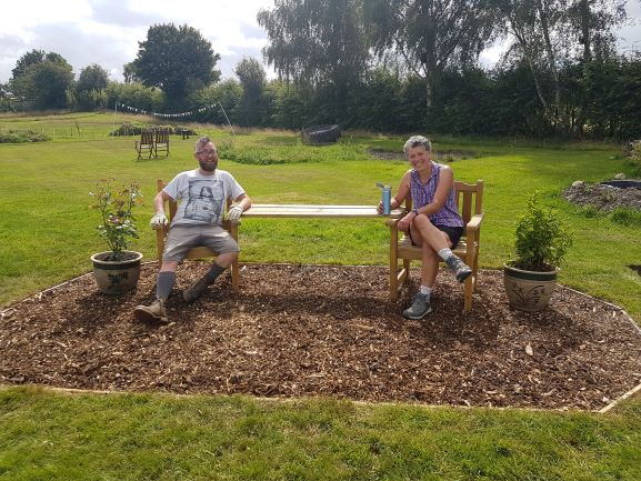 Friendship Bench launched at Shipley Woodside Community Garden - SEAG - Shipley Eco-Action Group