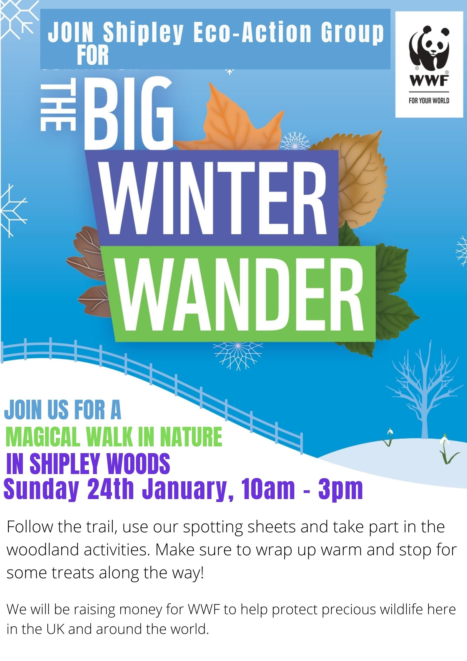 The Big Winter Wander in Shipley Woods (AS OF 09.01.21 EVENT POSTPONED) - SEAG - Shipley Eco-Action Group