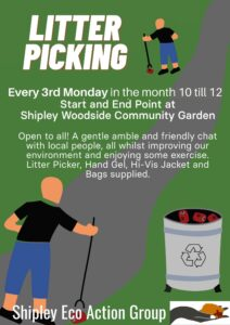 Litter Picking in Shipley area - SEAG - Shipley Eco-Action Group